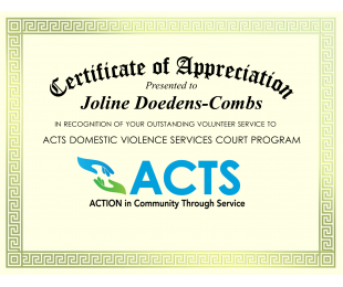 Volunteer Spotlight: Joline Doedens-Combs